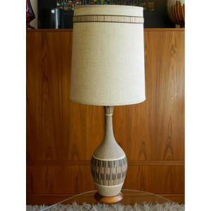 MCM Ceramic Lamp w/ Matching Original Shade