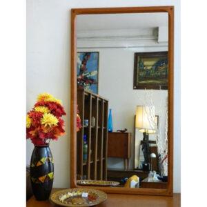 Aksel Kjersgaard Model No. 166 Danish Modern Designer Teak Mirror