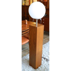 Laurel Pedestal Floor Lamp w/ White Globe