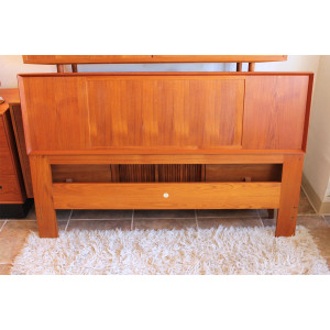 Falster Teak & Seagrass Reversible Danish Modern Headboard