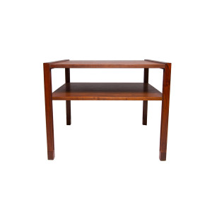 Rare DUNBAR MCM Designer Accent Table with Shelf
