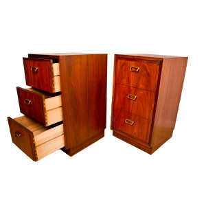 Founders MCM Walnut Tall Night Stands