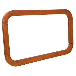 Curved Danish Modern Teak Mirror