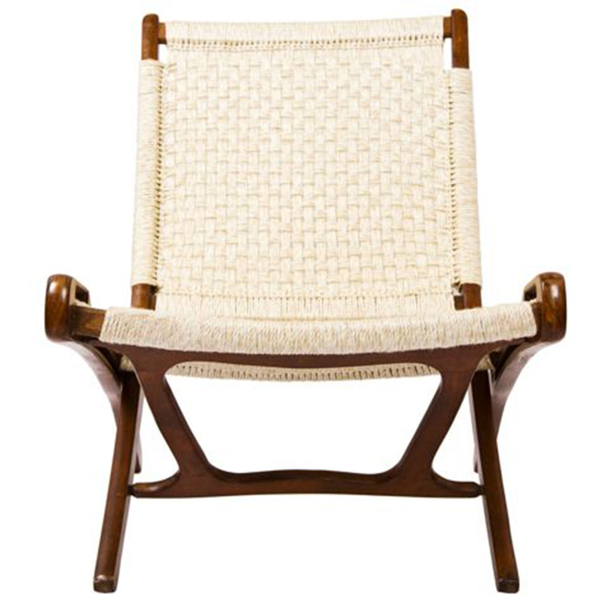 Walnut Danish Cord Folding Chair ...