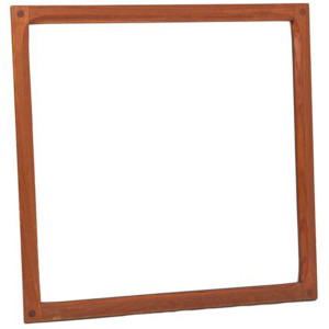 Square Aksel Kjersgaard Danish Teak Mirror – Model No. 162