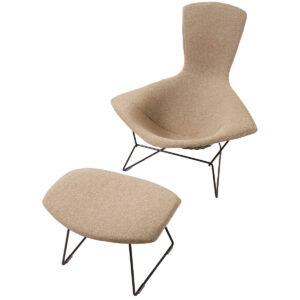 Vintage Bertoia Bird Chair & Matching Ottoman