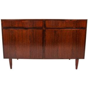Rare Model 3 Gunni Omann Compact Danish Modern Rosewood Sideboard / Media Cabinet