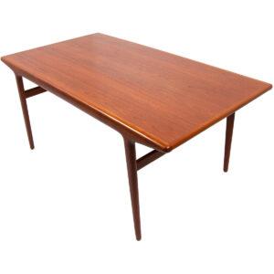 Rare Danish Modern Designer 'Organic' Teak Expanding Dining Table by Niels Møller