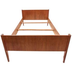 Dyrlund Danish Modern Teak Twin Size Bed Frame