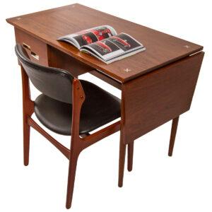 Expanding Walnut Desk w/ Drop-Leaf by American of Martinsville