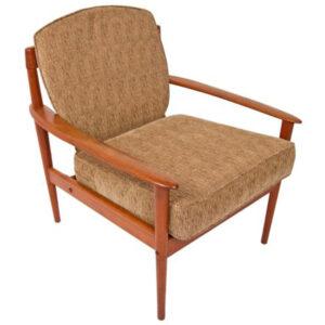 Grete Jalk Danish Modern Teak Settee & Lounge Chair Set