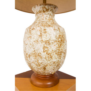 Large Textured Lamp w/ Earth Tones