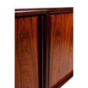Danish Modern Rosewood Tambour Door Sideboard