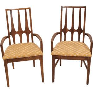 Set of 6 Mid Century Brasilia Walnut Dining Chairs