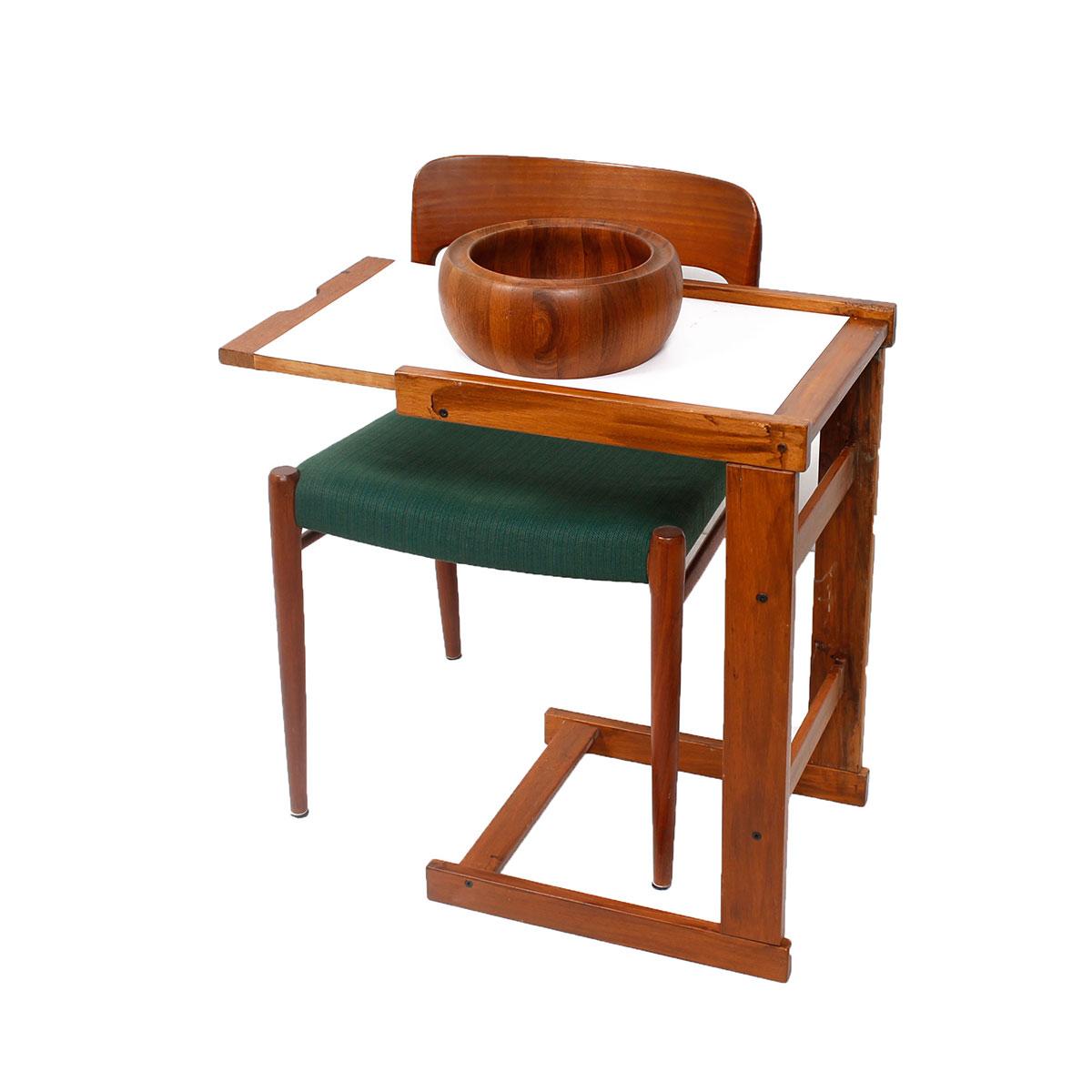 danish teak side tableover sofa table