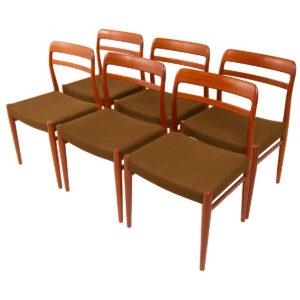 Alf Aarseth Set of 6 Norwegian Teak Dining Chairs