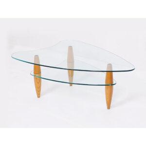 Exceptionnel Apartment Size 2 Tier Modernist U0027Arrowheadu0027 Glass Coffee Table