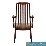 Set of 6 KOEFOEDS HORNSLET Danish Modern Slatback Dining Chairs