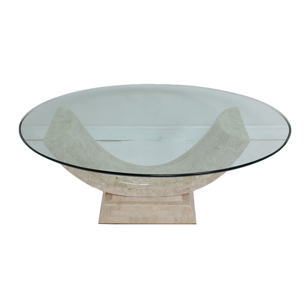 Modern mobler Glass oval coffee tables
