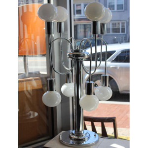 MOD / Pop 70's Chrome Lamp w/ 8 Bulbs