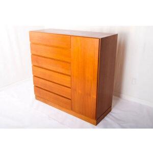 Danish Modern Teak Gentlemans Dresser – Storage Cabinet
