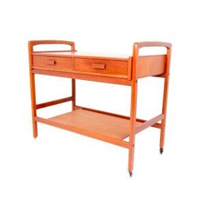 Danish Modern Teak Bar Cart w/ Drawers