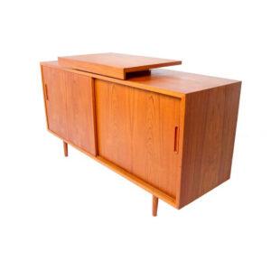 Compact Danish Modern Teak TV – Media Cabinet