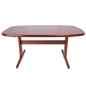 Danish Oval Rosewood Dining Table with 2 Leaves