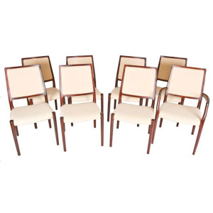 Set of 8 Niels Møller Danish Rosewood Dining Chairs