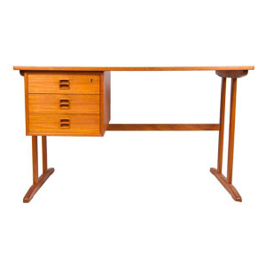 Mogensen Streamlined Danish Modern Teak Compact Desk