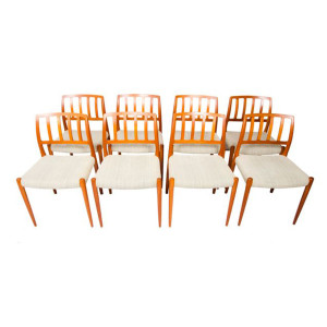 Set of 8 Niels Møller Danish Modern Teak Dining Chairs
