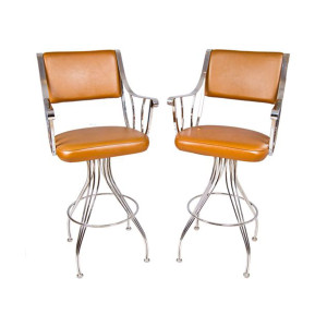 Pair Majestic MOD Chrome Bar Stools