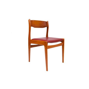 Occasional / Desk Chair with New Upholstery – Danish Modern Teak
