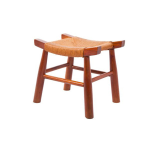 Vintage Asian Inspired Solid Teak Stool