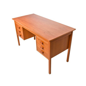 Compact Danish Modern Teak Student / Writing Desk