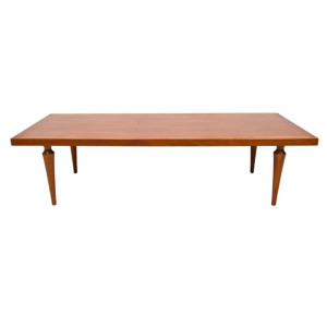 Elegant Hollywood Regency Walnut Coffee Table