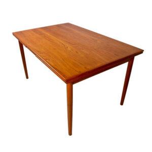 Compact Danish Modern Teak Expandable Dining Table