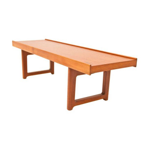 Norwegian Teak Mini Coffee Table – Bench