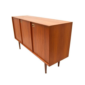 Tall 3 Door Teak Sideboard – Buffet