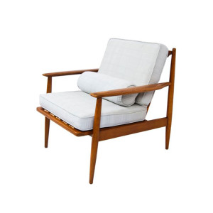 American Modern Walnut Lounge Chair