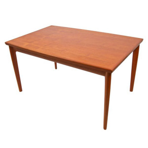 Kofod Larsen Mid-Sized Danish Teak Expanding Dining Table