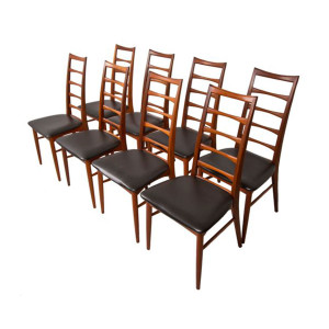 Set of 8 Koefoed Hornslet Danish Modern Teak Dining Chairs