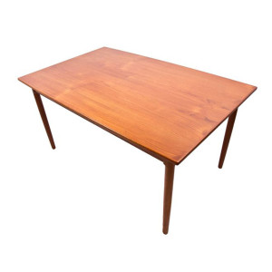 Randers Danish Modern Teak Expanding Dining Table