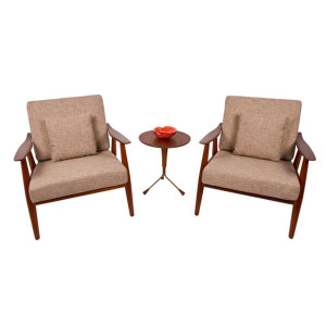 Rare Hans Wegner Pair of Lounge Chairs