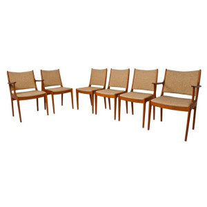 Set of 6 Danish Modern Teak Dining Chairs