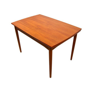 Mini Danish Modern Teak Expanding Dining Table