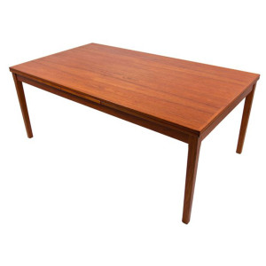 Colossal Danish Modern Teak Expanding Dining Table