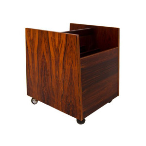 Rosewood Magazine Cart