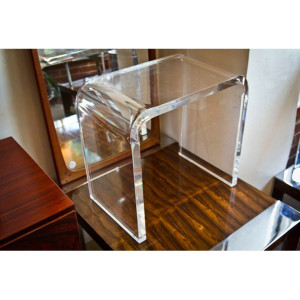 MCM Lucite Stool-Accent Table