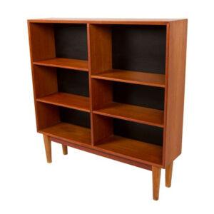 Slim and Compact Danish Modern Teak Bookcase